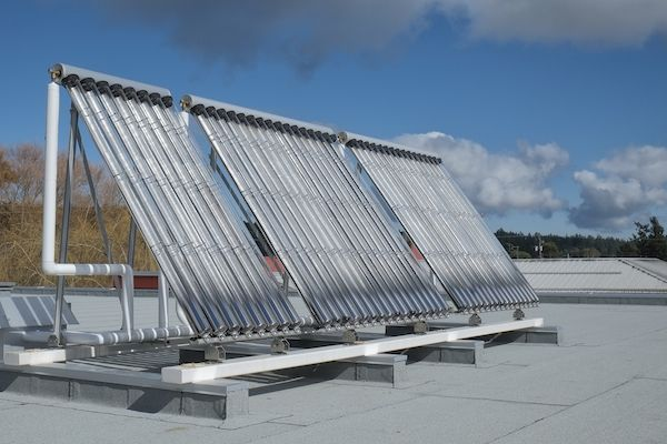 Solar Panels on the Roof of the Salt Spring Island Public Library. Photo by John Cameron. www.johncameron.ca/
