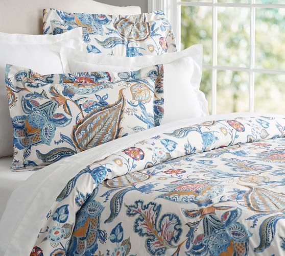 Merion Palampore Duvet Cover Amp Sham Pottery Barn For