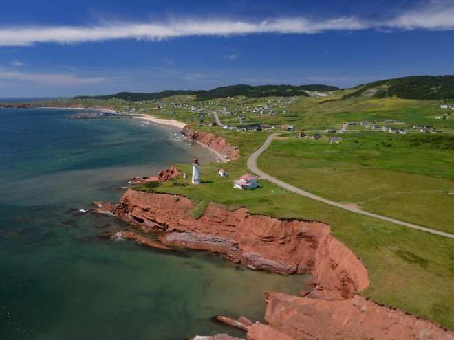 The dramatic coastline of  Île du Havre Aubert, part of Quebec's remote Îles de la Madeleine. Rochelle Lash  The Montreal Gazette #ilesdelamadeleine