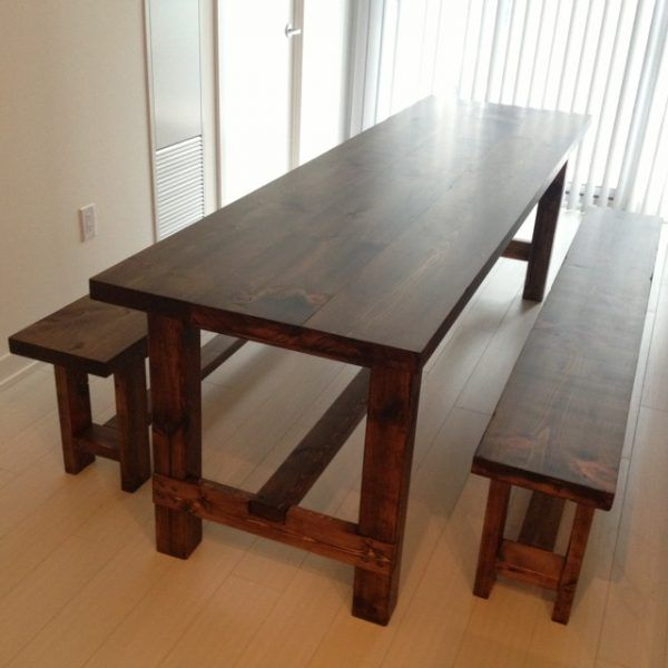 40 Free DIY Farmhouse Table Plans To Give The Rustic Feel Your Dining Room