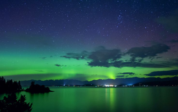 Northern Lights 2. Flathead Lake, Montana, USA.