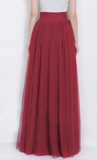 Formal Tulle Maxi Skirt