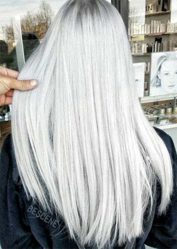 25 Awesome Silver Hair Color Looks To Try In 2018 Grey Hair
