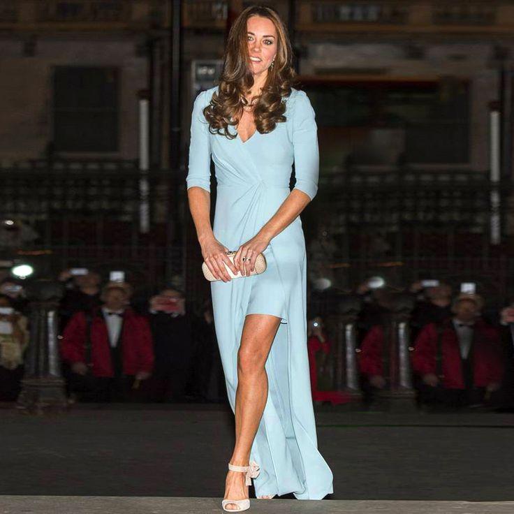 Elegant Kate Middleton Chiffon Evening Dresses High Low ...