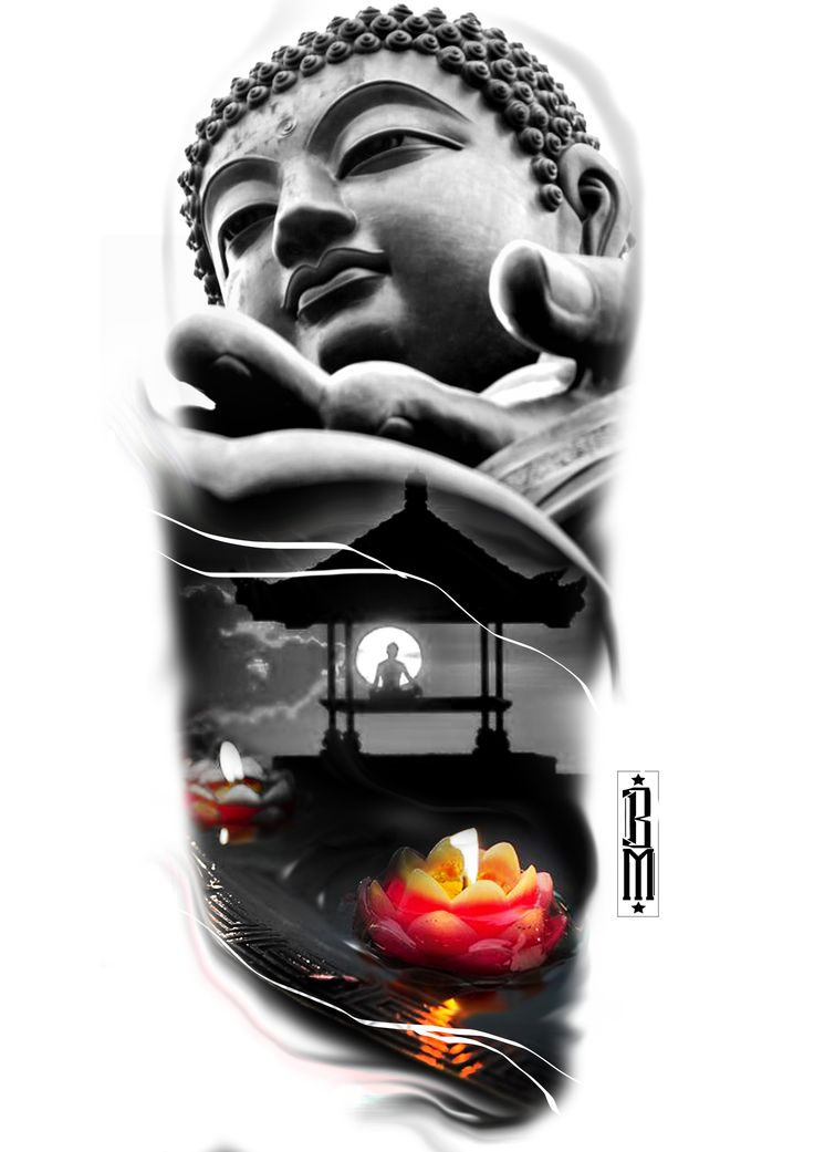 buddha  flower relaxing tattoo design meditation  arm digital designs idea colour  buddhism