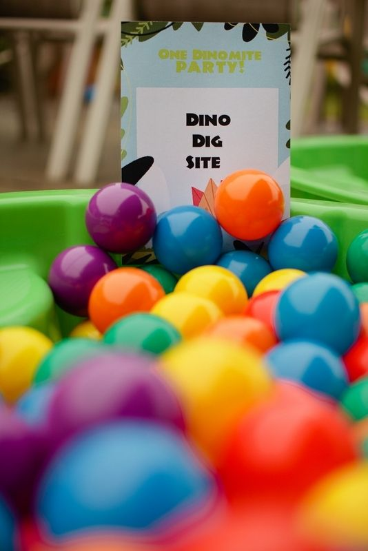 [Boy Bash] Dinosaur Birthday Party on a Budget! – Ball pit balls instead of sand…