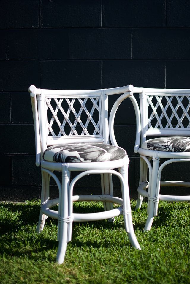 Before & after: Cane Chair Makeover from a spair& a pair