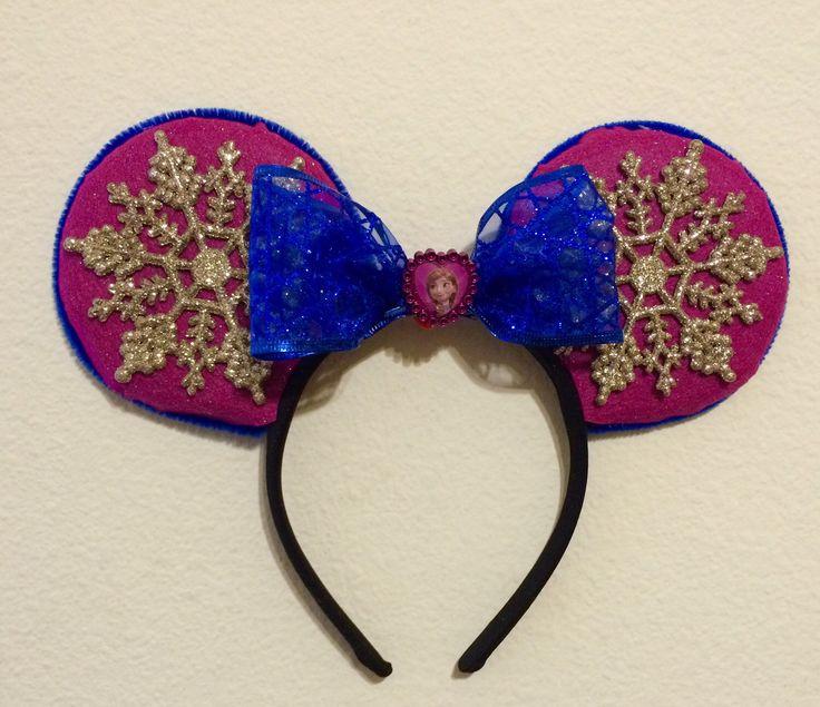 Princess Anna Frozen minnie ears by TwistedWonderland08 on Etsy https://www.etsy.com/listing/223050674/princess-anna-frozen-minnie-ears