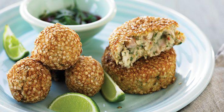 Quinoa Crusted Fishcakes via @iquitsugar