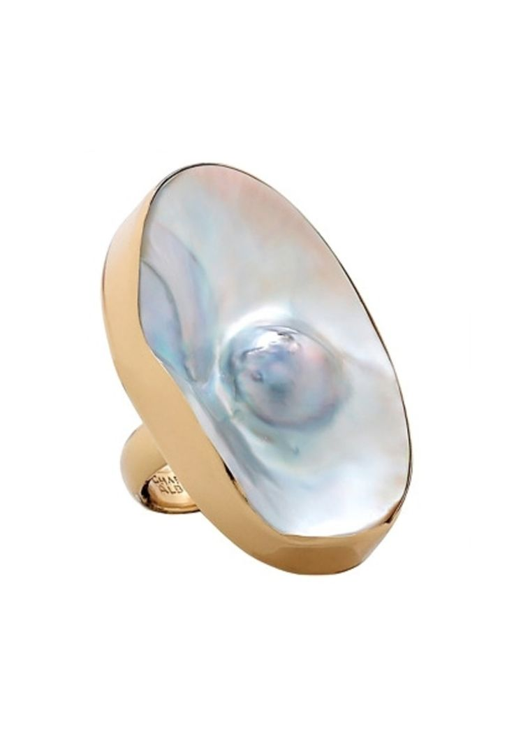 Mabe Blister Pearl Ring from Sky Tribe