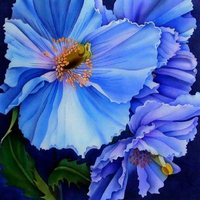 """Himalayan Poppy"" - mounted 50cm square    ©2007 Leonard Thompson"