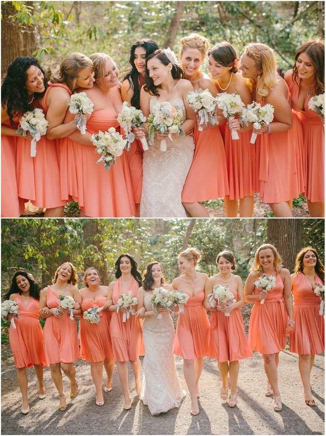 ... hochzeitsdeko pfirsich rosa brautjungfernkleider wedding ideen