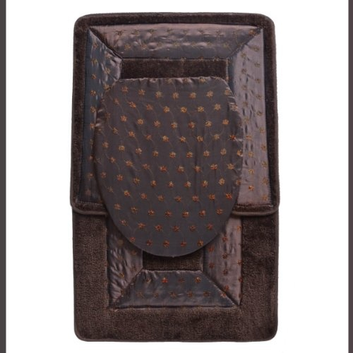 $14.95 BROWN 3 Piece Embroidered Bathroom Rug/mat Set. Bath Rug/mat, Contour Rug/mat, Toilet Seat Lid Cover  From BAM-TasticDeals   Get it here: http://astore.amazon.com/ffiilliipp-20/detail/B005P8I2H0/183-4573073-8199113: January 2014, Rugs Mats Sets, Toilets Seats, Contours Rugs Mats, Bath Rugs Mats, 2014 Projects, Bathroom Rugs Mats, Embroidered Bathroom, Master Bathroom