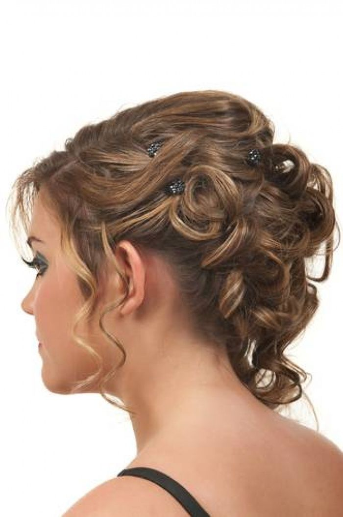 Cute Brunette Hairstyle for Prom and Homecoming | Long ...