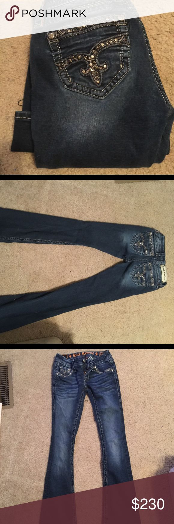 Rock Revivals size 24❤️💝 Rock Revivals size 24! Wanting to just trade for Rock Revivals in size 24. 💝 Tag me in what you have ladies!! Rock Revival Jeans Boot Cut