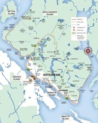 Ketchikan Alaska Maps - Island, Town, Downtown, even Nautical Maps!