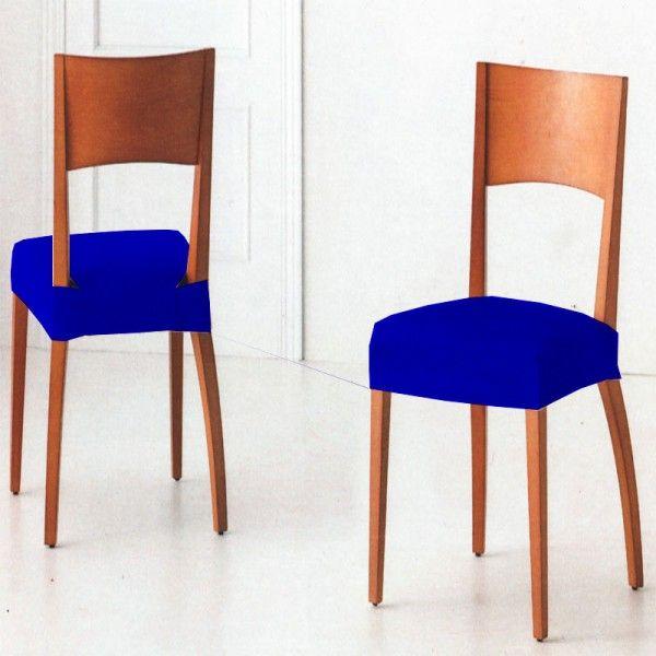 Pack de Fundas para Sillas color Azul Eléctronica modelo TÚNEZ, packs de 2 y 6 fundas elásticas para sillas.
