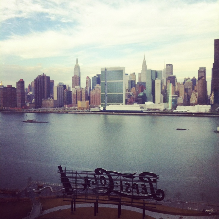The view of Midtown Manhattan from Long Island City, NYC.    #lic