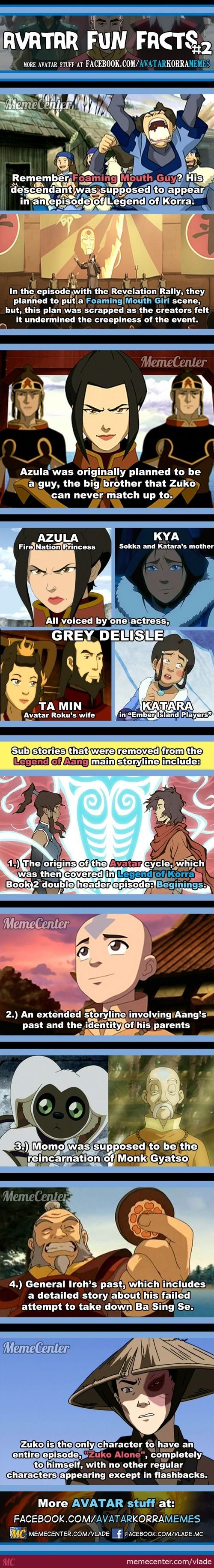 Avatar The Last Airbender and Legend of Korra fun facts