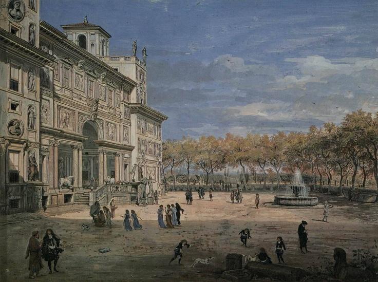 Villa Medici in un dipinto di Caspar van Wittel, 1685