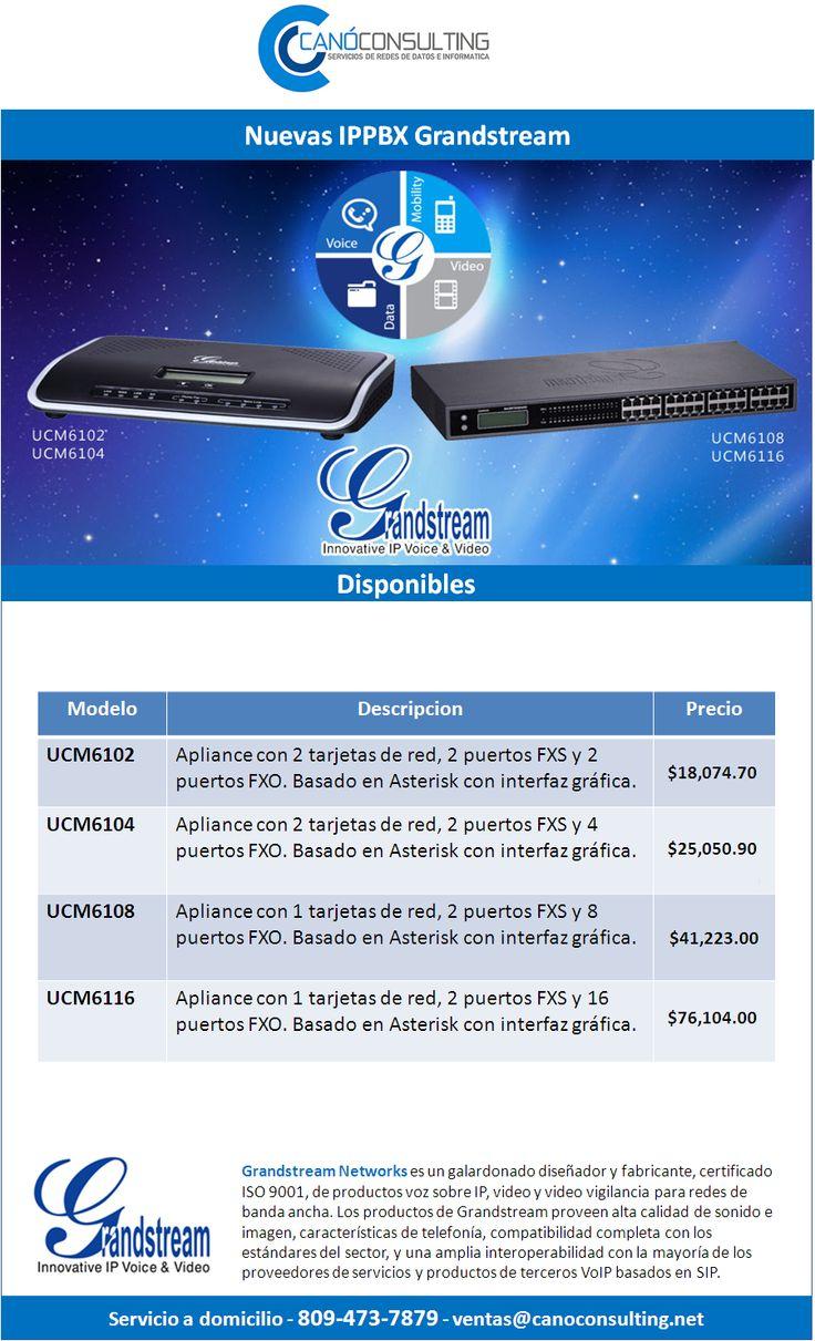 Centrales telefónicas UCM61XX. Precios de introducción.