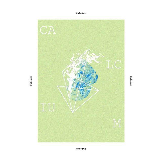 Calcium #poster #posterdesign#graphicdesign #chemicalelements #metal #calcium