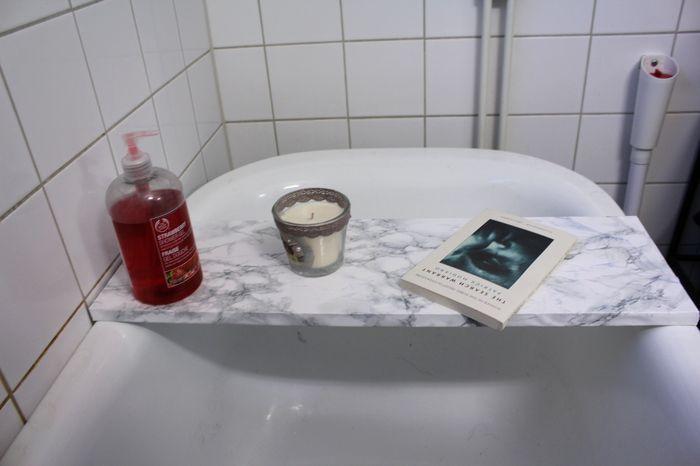 Marmorbricka till badet