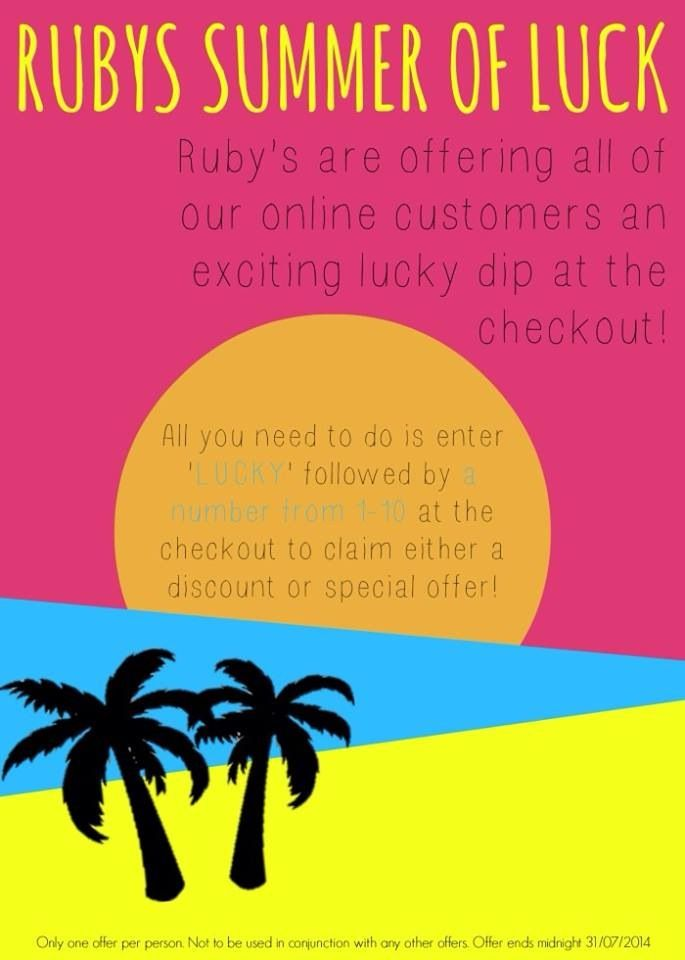 Summer promotion with Rubys Europe! Available on www.rubyseurope.com