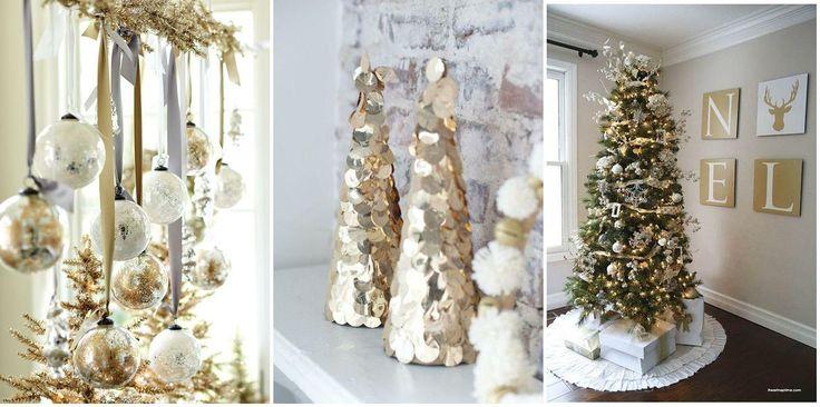 Decoración navideña en color oro o dorado