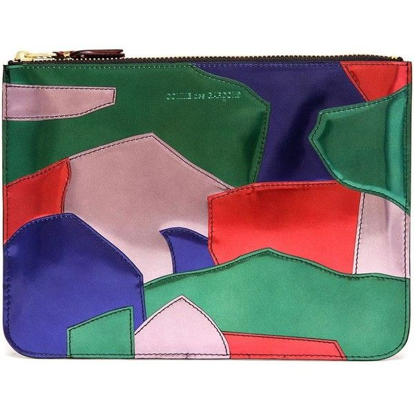 Comme Des Garçons Wallet Comme Des Garçons Wallet 'Patchwork Metal'... ($235) ❤ liked on Polyvore featuring bags, wallets, patchwork bags, pouch wallet, multi color wallet, multicolor bag and green bag