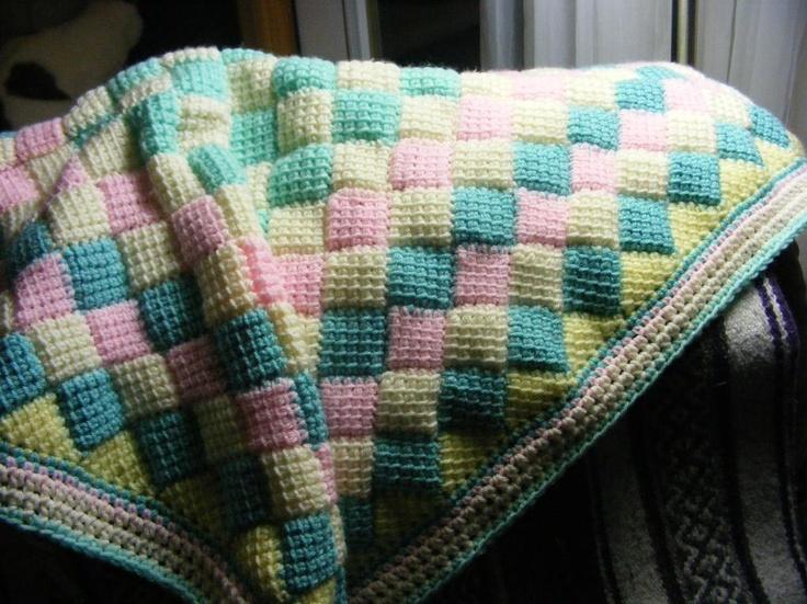 Free Crochet Entrelac Blanket Pattern ~ Dancox for .