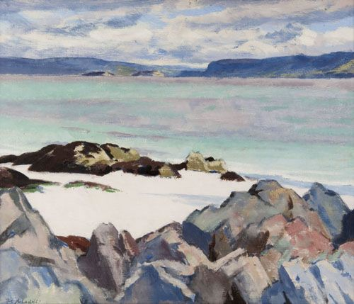 Loch na Keal By Francis Cadell, one of the Scottish Colourists (1923)