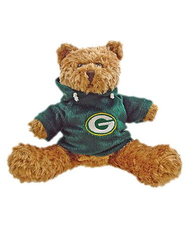 Take a look at this Green Bay Packers Hoodie Bear Plush Toy by Hunter on #zulily today!