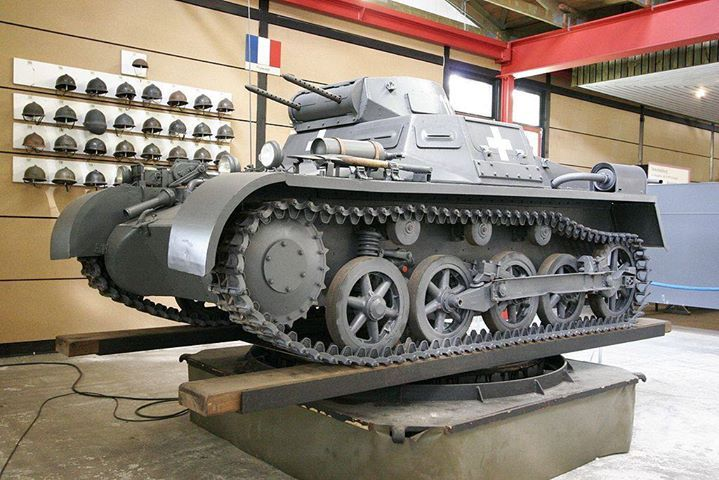 Panzer I tank now on display in the German Tank Museum Munster Germany