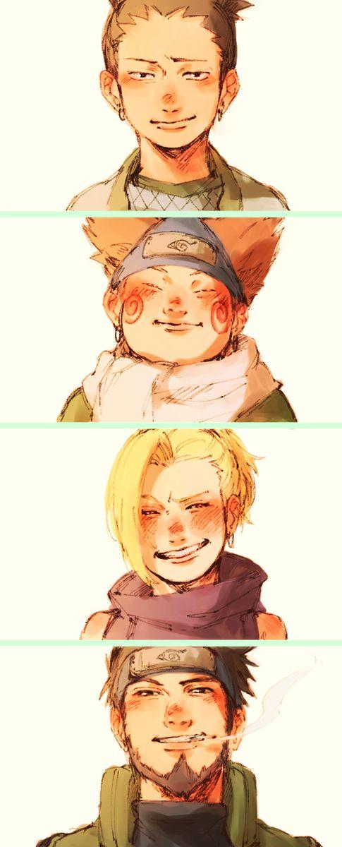 Equipo 10- Naruto by Masayi Kishimoto manga • concept art, #manga #historieta…
