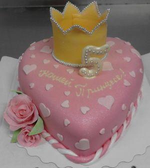 Торт в виде короны Нашей принцессе