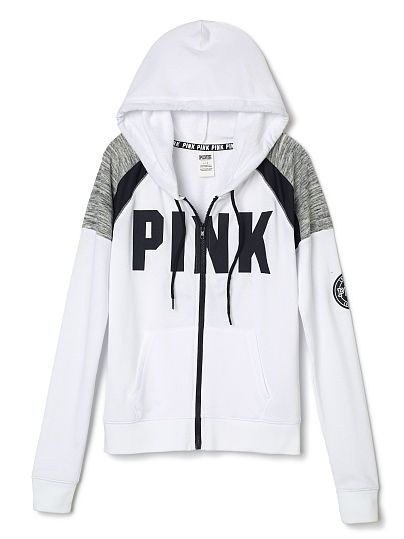 Perfect Full Zip Hoodie PINK | wish list | Pinterest | Full zip ...