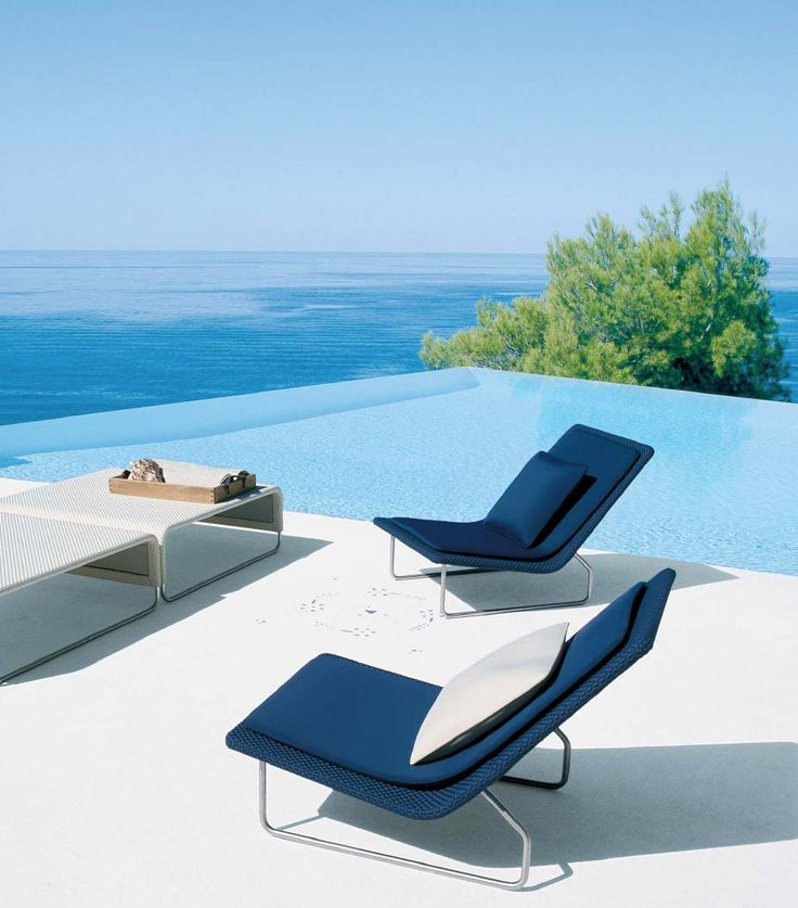 beautiful relaxing furniture. modern swimming pool  beside ocean 111 best Poolside Furniture images on Pinterest Decks Outdoor