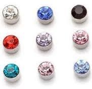 colored diamonds studs