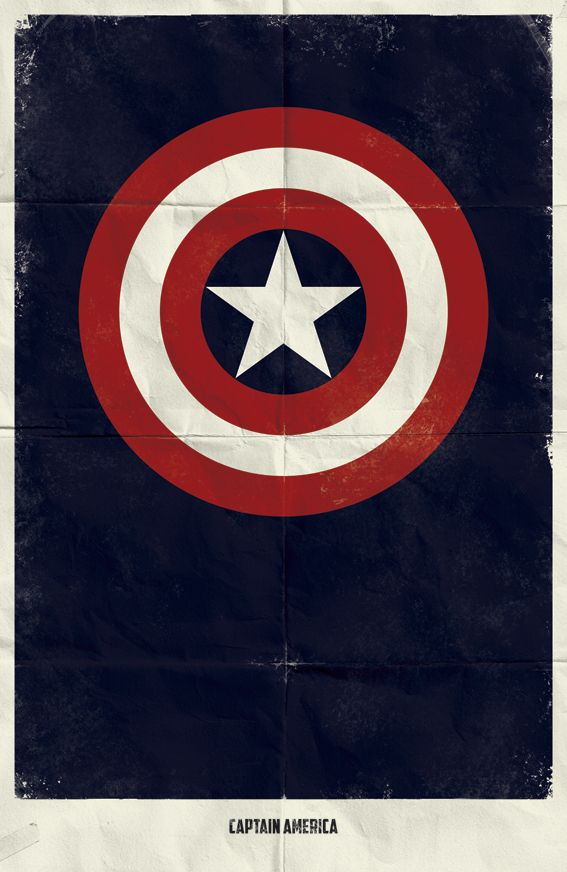 Why complicate things? (Captain America is my favourite. Followed by Hulk, of course): Marvel, Captainamerica, Comic, Captain America, Movie Poster, Superheroes, Minimalist Poster, Posters
