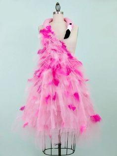 Pink Flamingo Costume Avant Garde 50s Inspired by WearTheCanvas, $450.00   best stuff