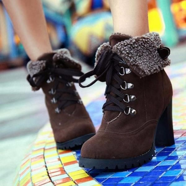 (Martin Snow) High Heel Short Ankle Boots (PS# 9141)