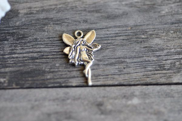 Sterling Silver Fairy 925 Sterling Silver Charm Pendant Made in USA by Pearlwearbeads on Etsy