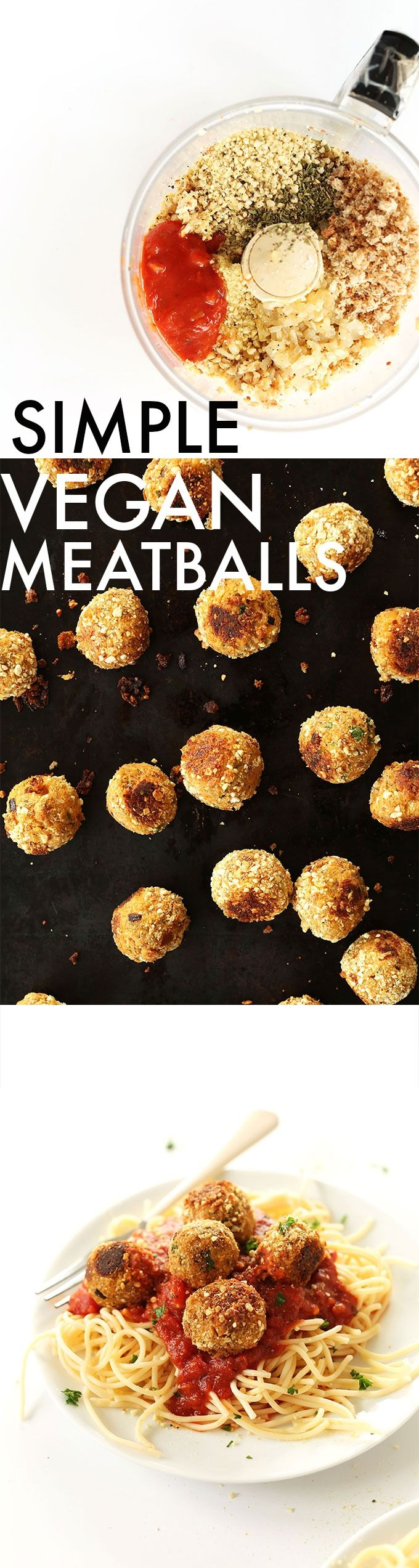 10 INGREDIENT Vegan Meatballs! Tempeh based, healthy, simple and entirely #VEGAN
