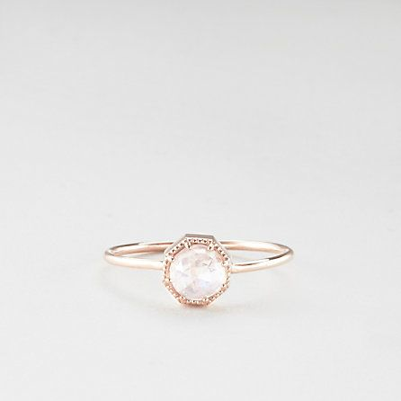MOONSTONE CROWN BEZEL RING #valentinesday #gift
