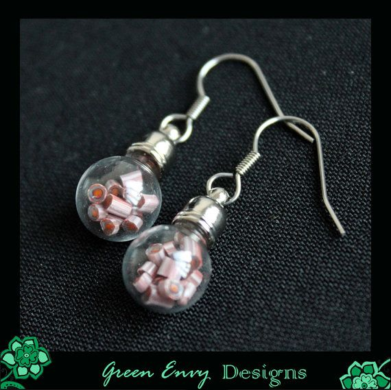 OUTLET: Hollow Glas Kuppel Earrrings mit der von GreenEnvyDesigns
