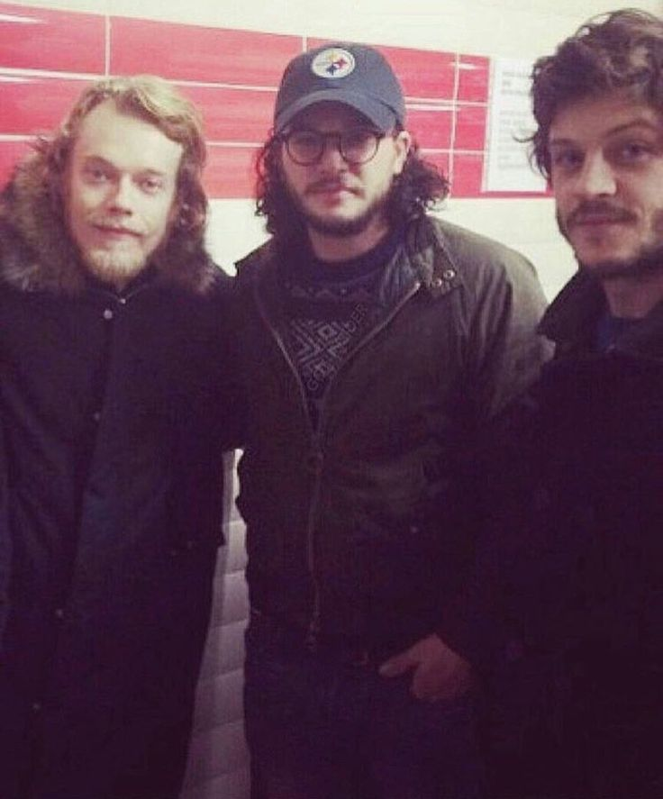 Alfie Allen, Kit Harington, and Iwan Rheon