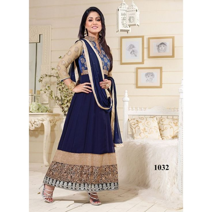 Adorable Embroidered Semi-stitched Party wear Suit at just Rs.820/- on www.vendorvilla.com. Cash on Delivery, Easy Returns, Lowest Price.