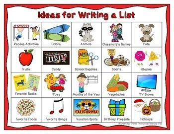 list of writing strategies
