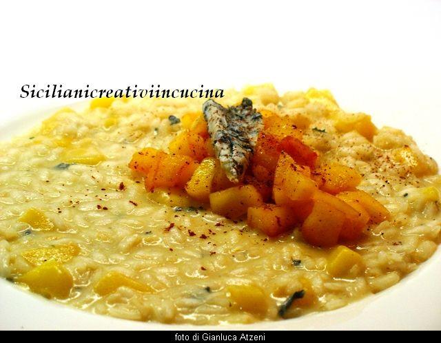 Risotto al gorgonzola e mele caramellate | SICILIANI CREATIVI IN CUCINA |